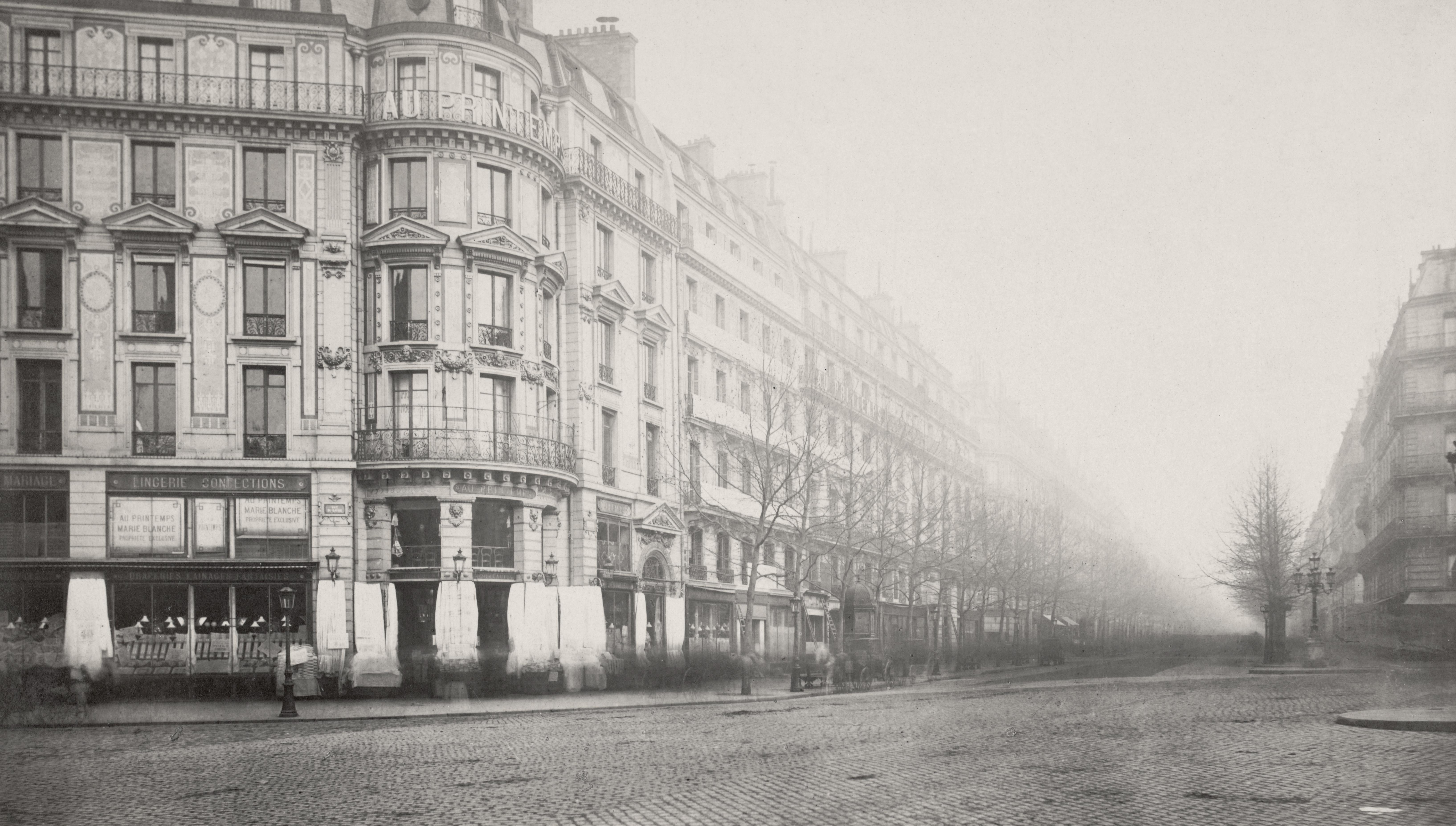 fichier charles marville boulevard haussmann de la rue du havre ca 1853 wikip dia. Black Bedroom Furniture Sets. Home Design Ideas