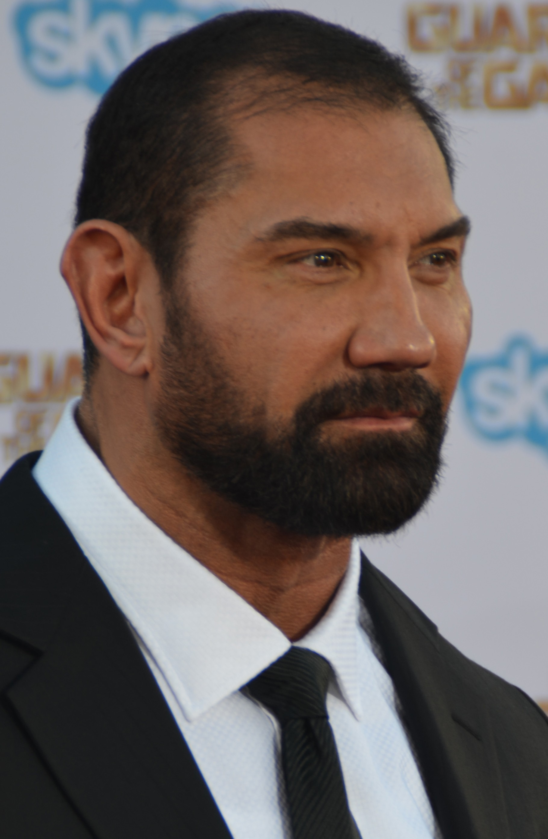 Dave Bautista  - 2018 Black hair & braid hair style.
