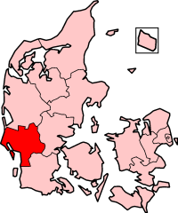 Ribe County in Denmark
