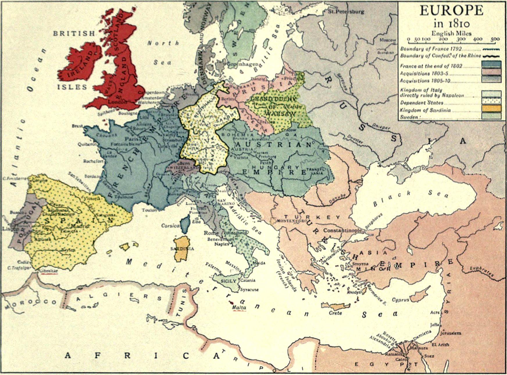 File Eb1911 Europe 1810 Jpg Wikimedia Commons