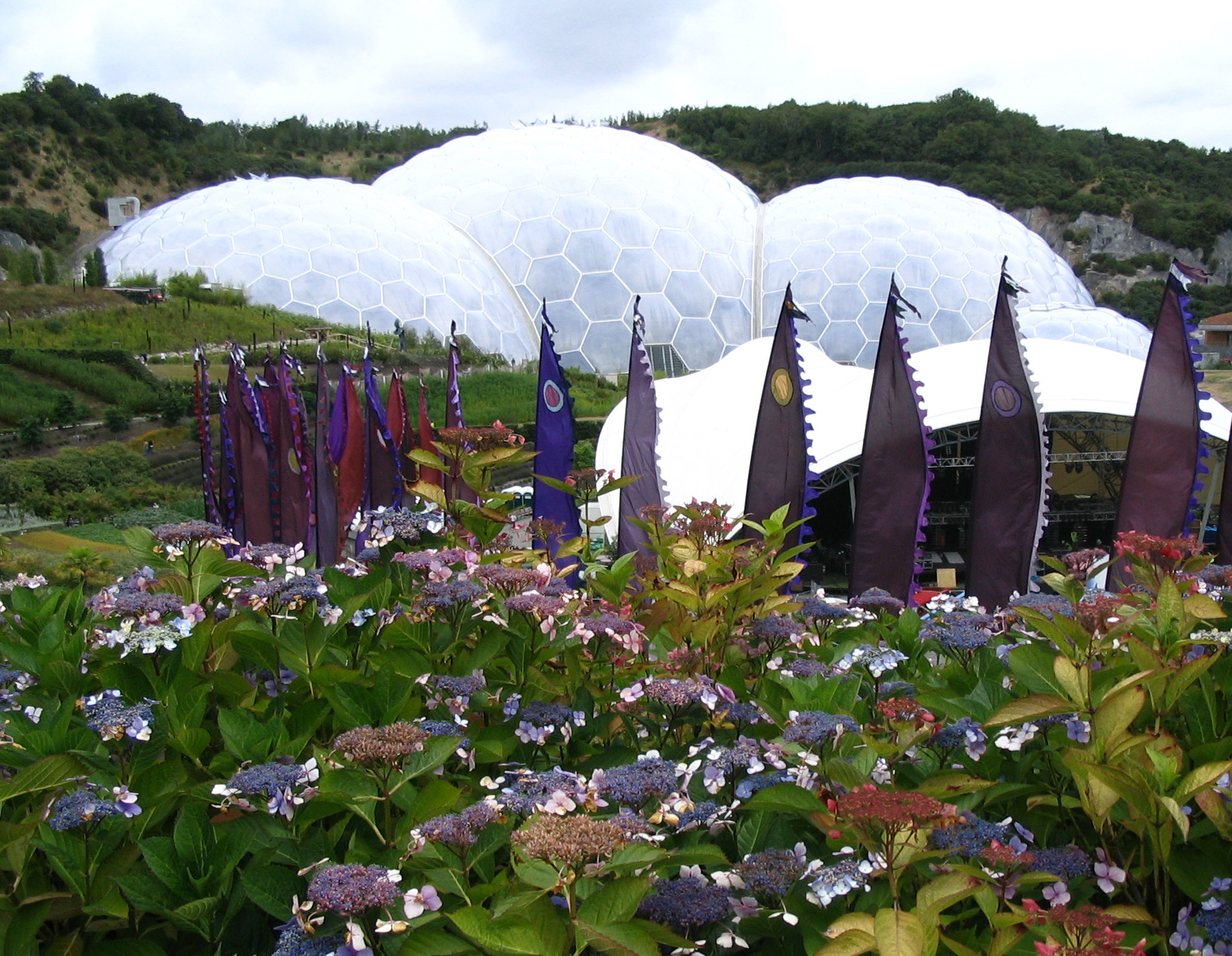 The Eden Project, Cornwall's largest tourist attraction in terms of visitor numbers