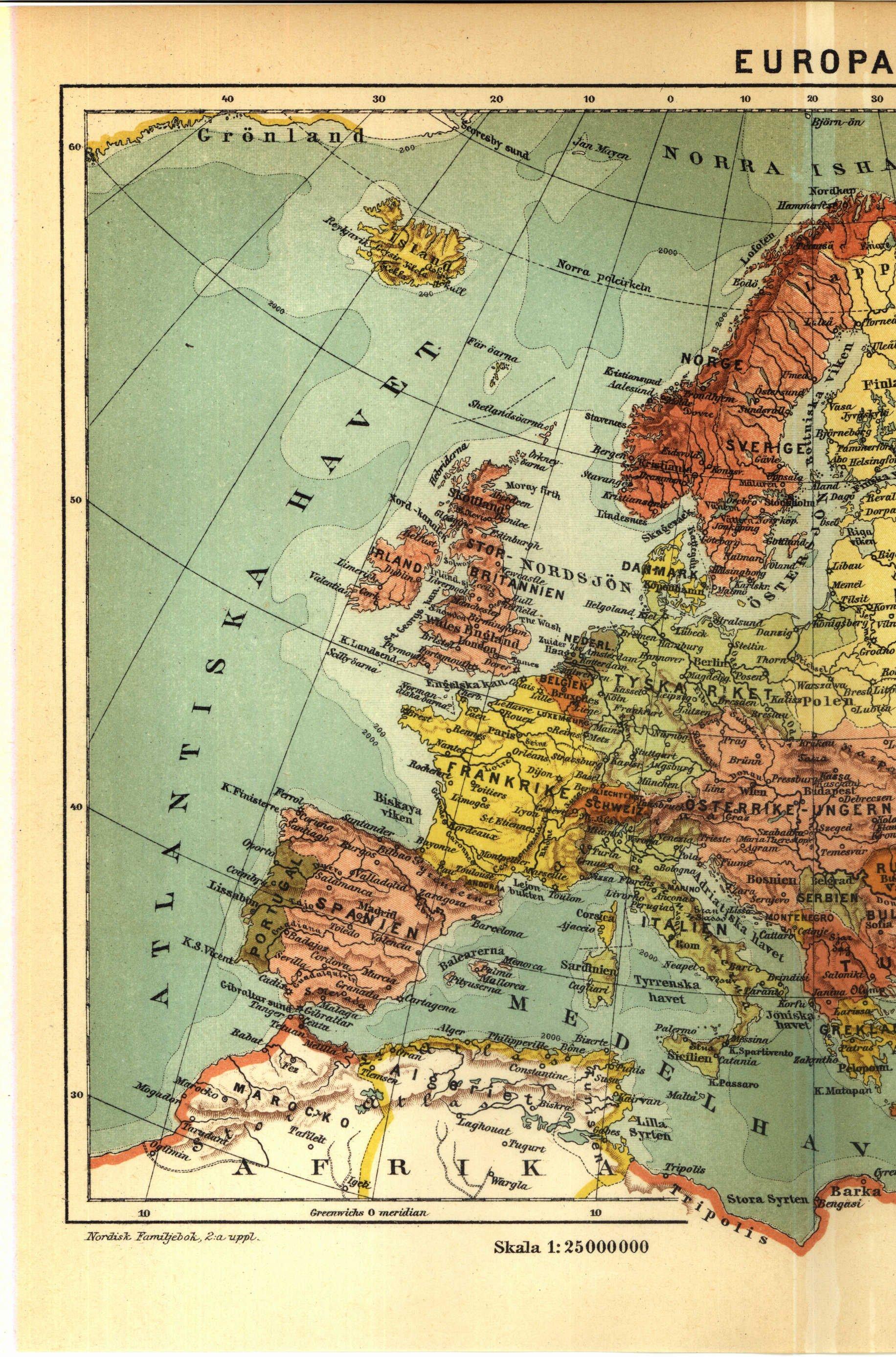 vägkarta europa