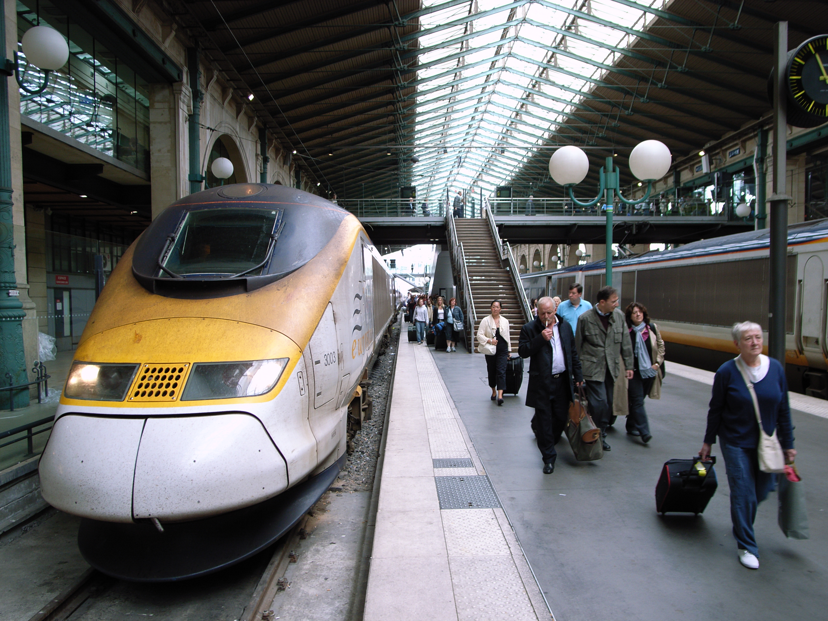 Eurostar is a high-speed train connecting Great Britain to Continental Europe. The Eurostar travels via the Channel Tunnel, and brings you from London to Paris, Brussels or Amsterdam in just a few hours.