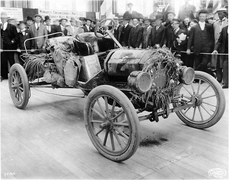 "Model T Car: File:Ford Model ""T"" Car No. 2, Winner Of The 1909 Trans"