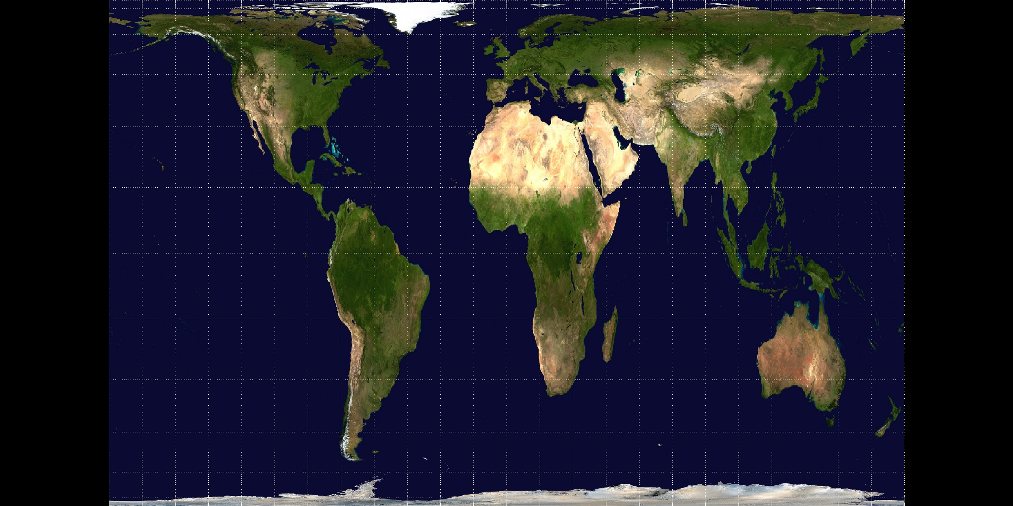 A Gall-Peters Projection of a visible Earth NASA Space Agency