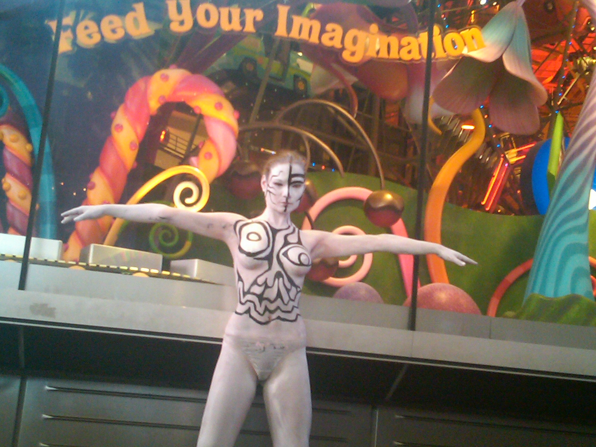 Times Square Body Paint Models