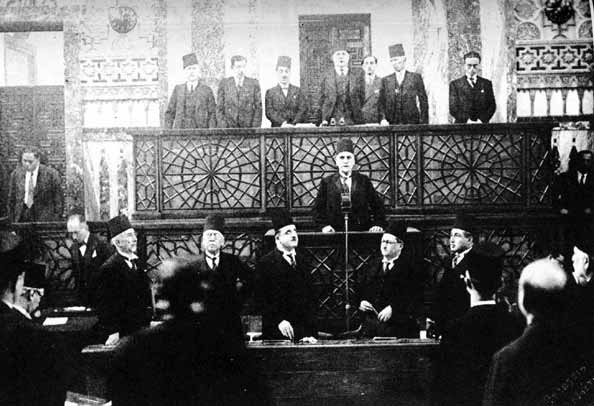 The inauguration of President Hashim al-Atassi in 1936