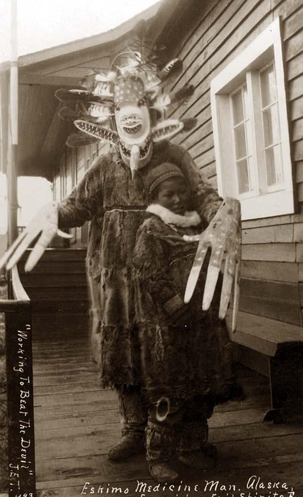 File:Inuit medicine man and boy 1900.jpg
