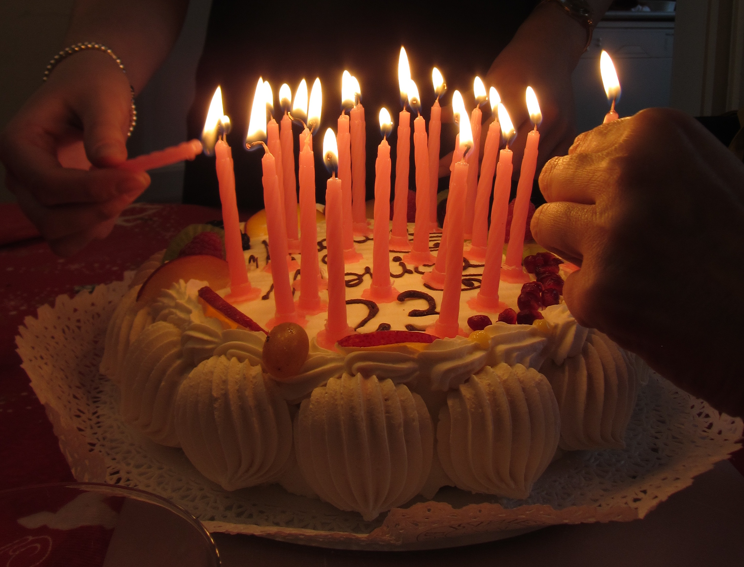 File Italy Birthday Cake With Candles 3 Jpg