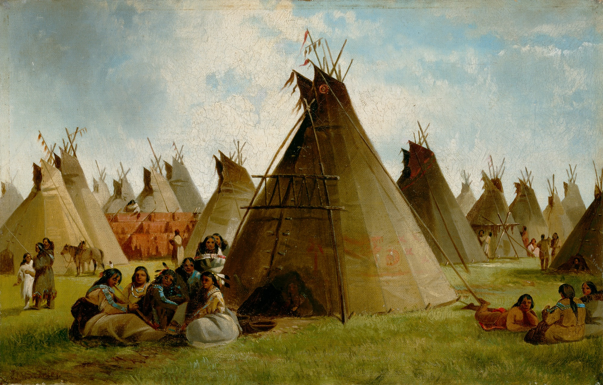 file john mix stanley prairie indian encampment jpg wikimedia commons indian clip art black and white indiana clipart free