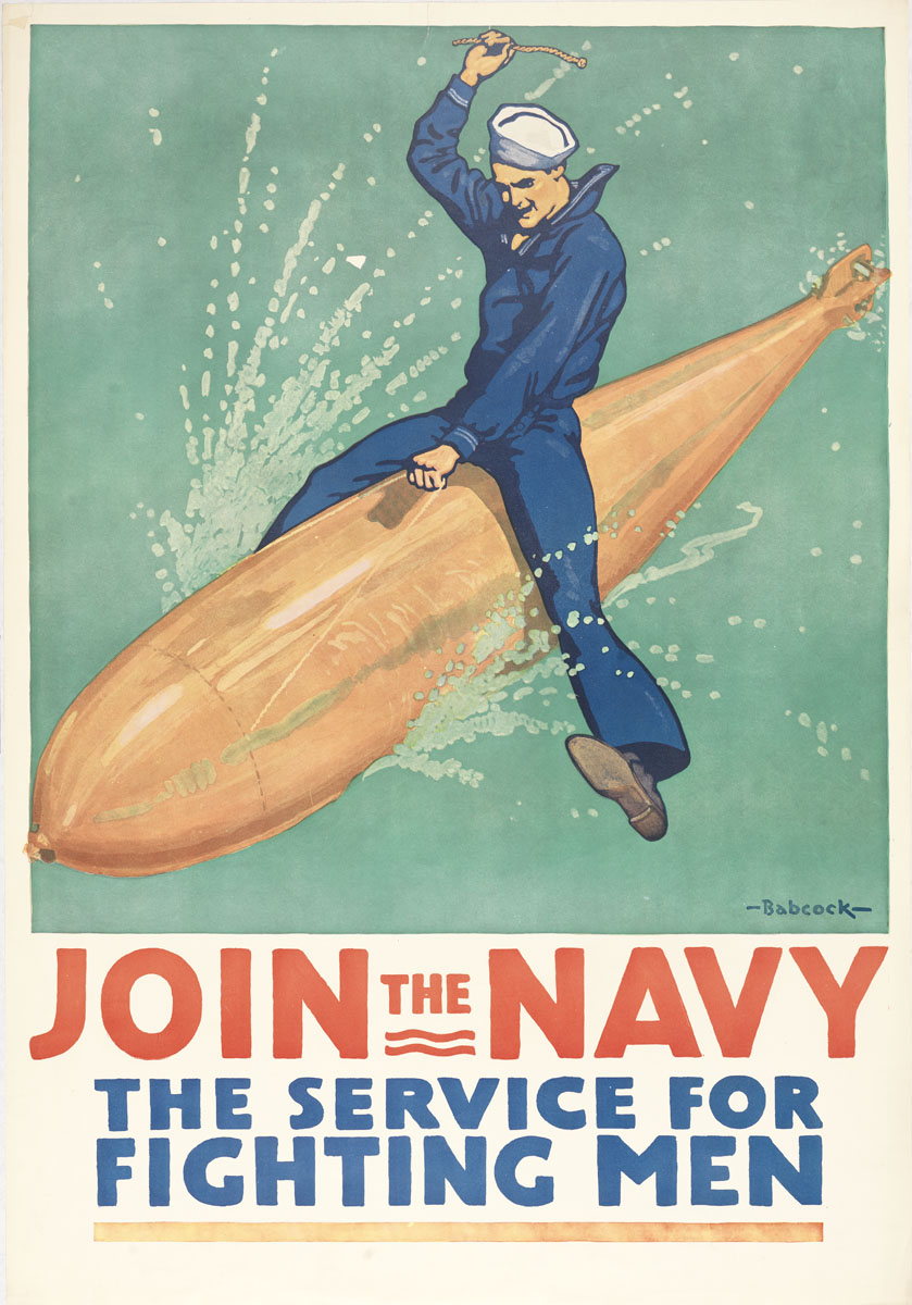 Join The Navy! Boys dress in blue.