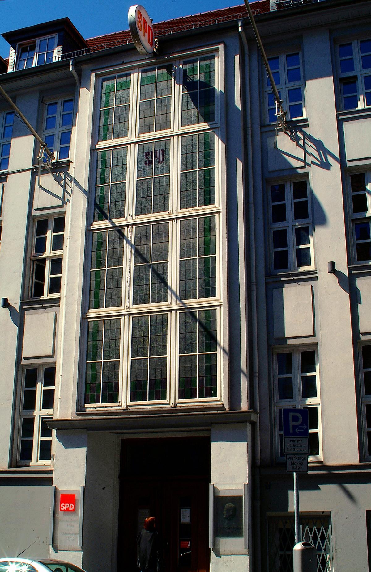 Filekurt Schumacher Haus Spd Bezirk Hannover Landesverband
