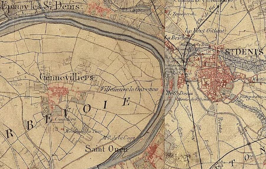 File l ile saint denis carte de france dite d etat wikimedia co - Villes d ile de france ...