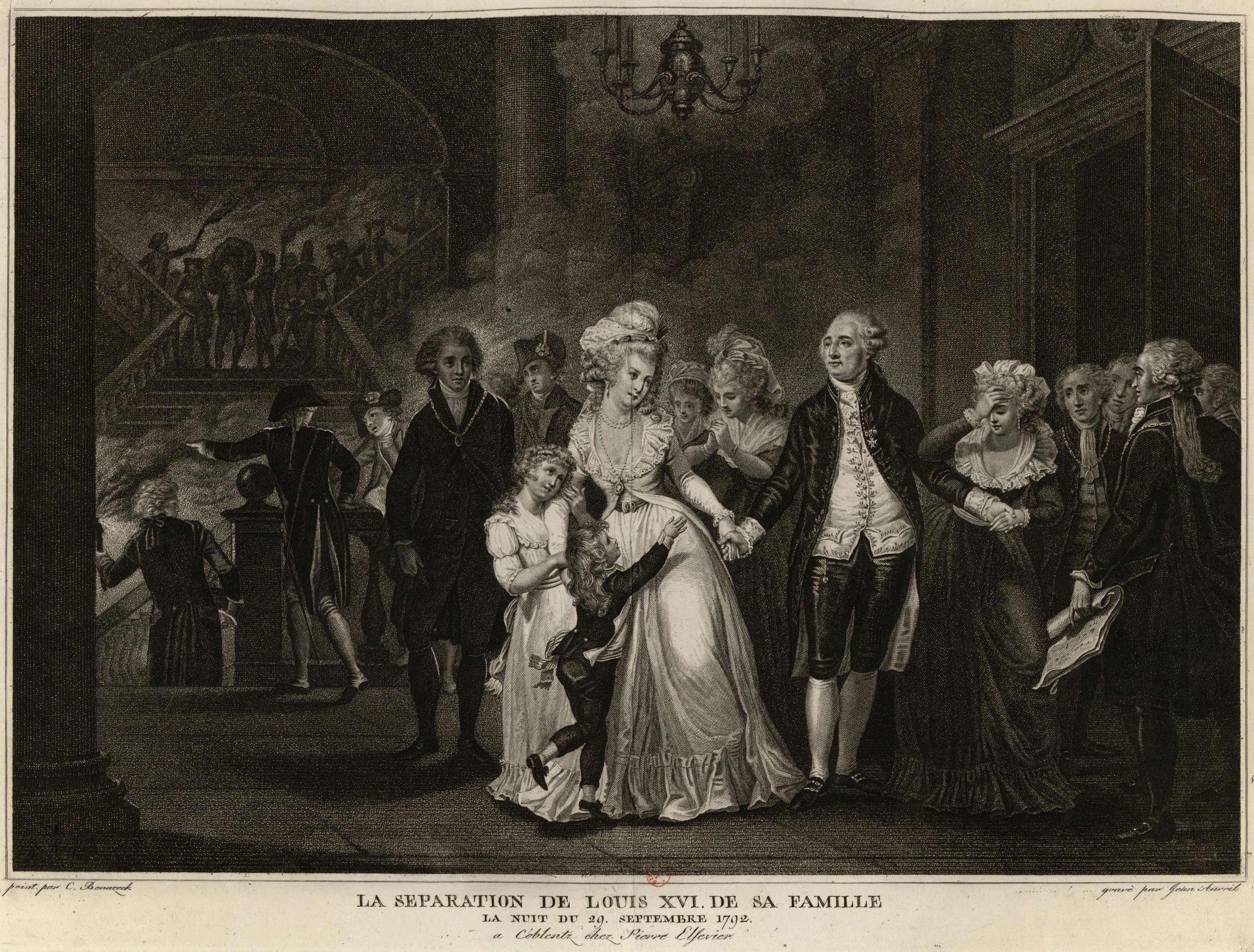 File:La Séparation de Louis XVI de sa famille - Etampe 1794-95.jpg ...