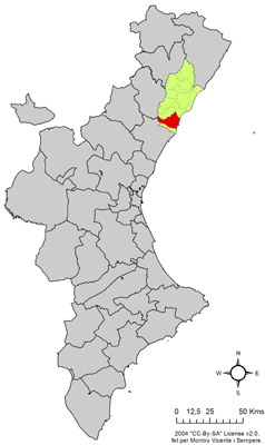 Location in the Valencian Community