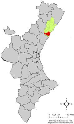 Vị trí của Castellón de la Plana