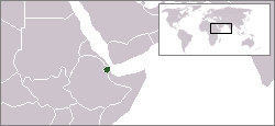 Location of Djibouti