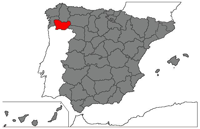 ourense mapa File:Mapa de localización da Provincia de Ourense, Galicia.  ourense mapa