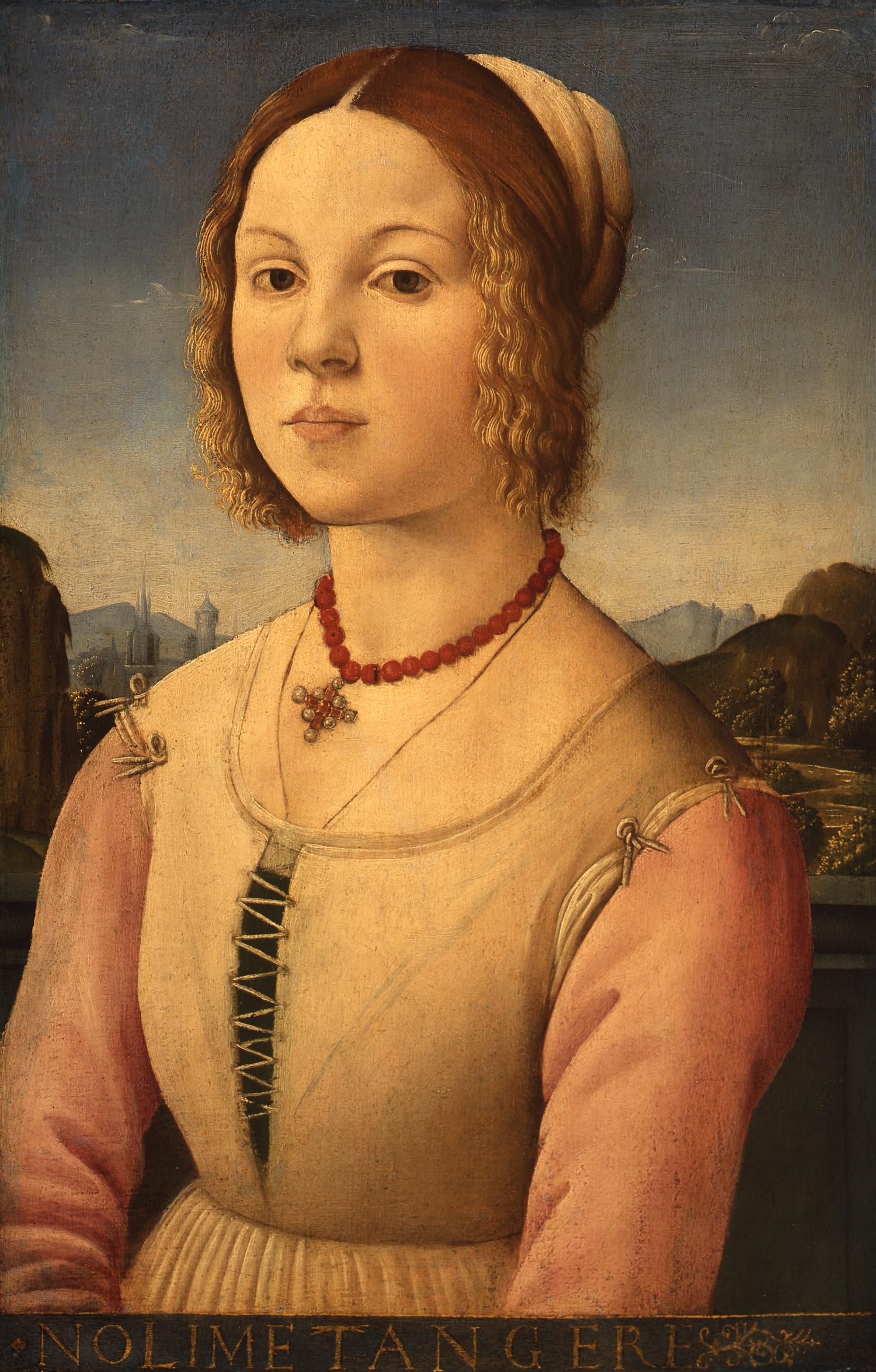 File:Mazziere, Agnolo di Domenico del — Bildnis einer jungen Frau — 1485 1490.jpg