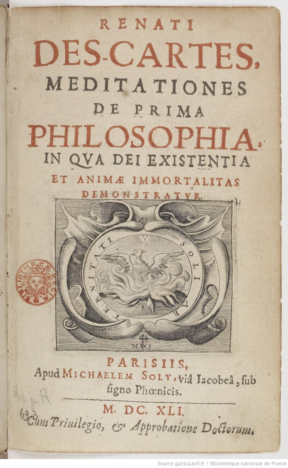 Meditations on First Philosophy - Wikipedia