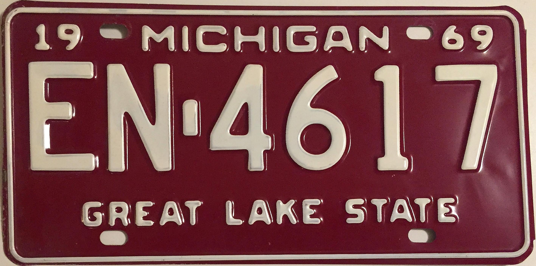 File:Michigan 1969 License Plate.JPG - Wikimedia Commons