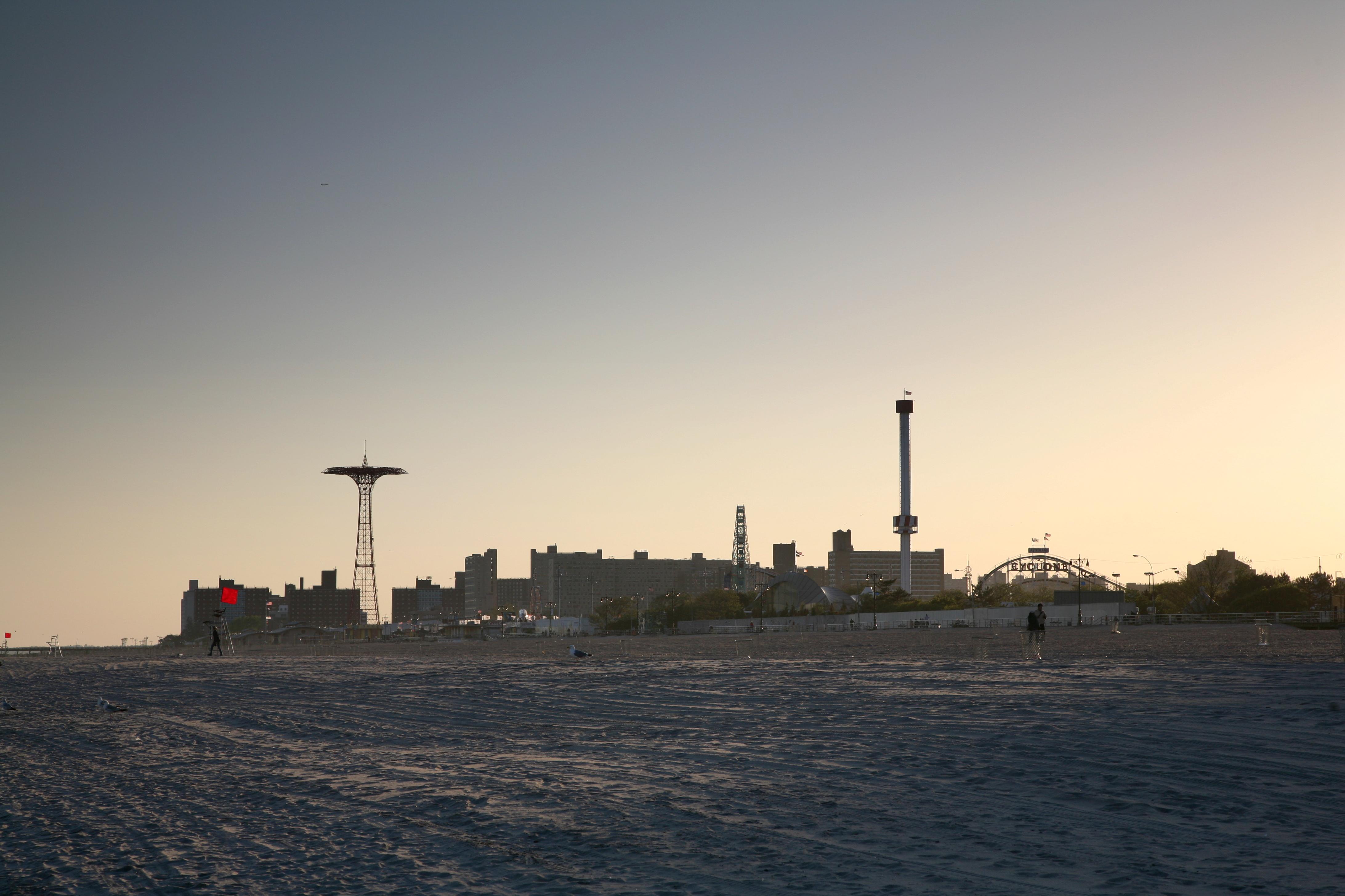 Coney Island Beach Swimming In Water