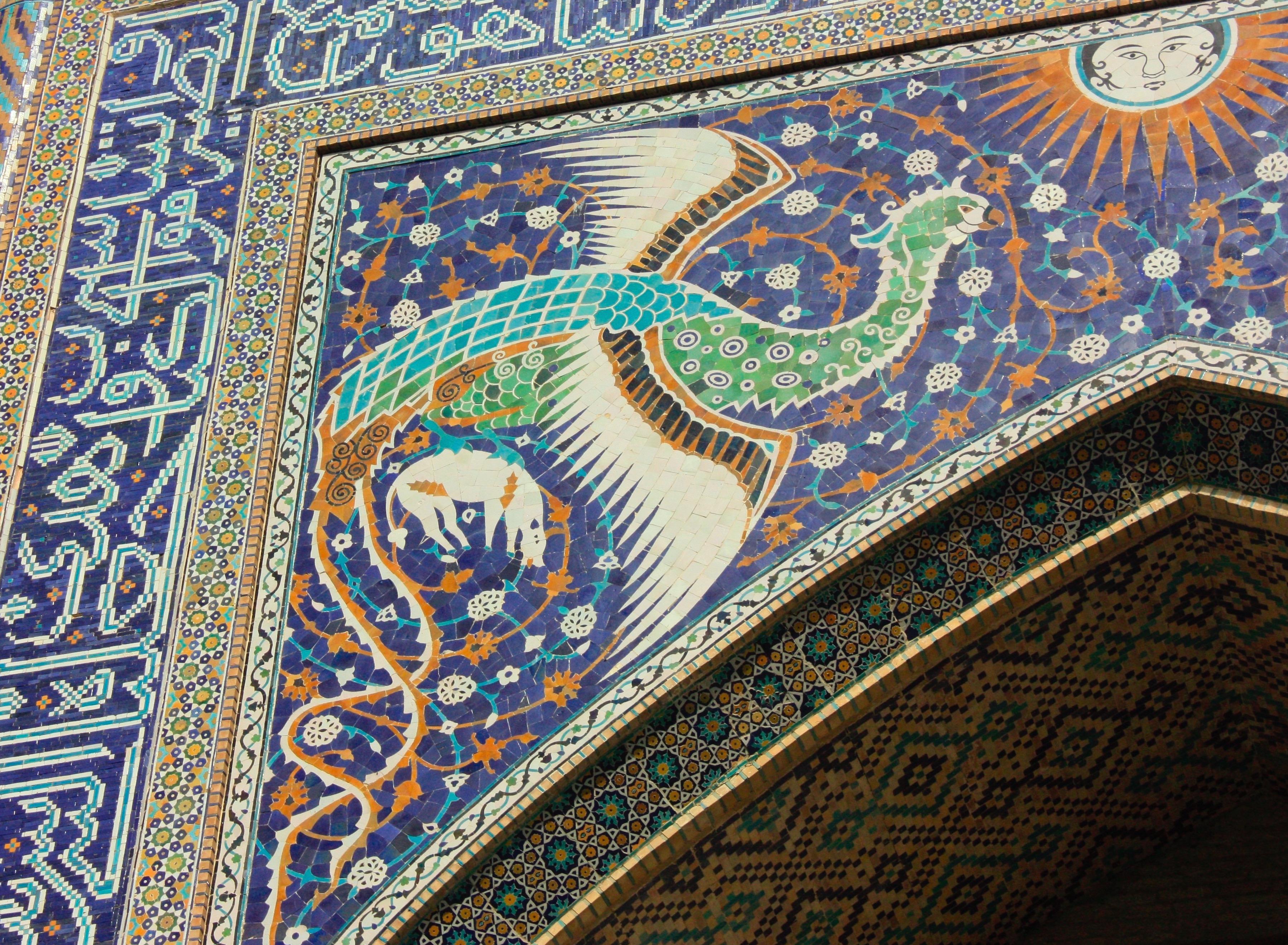 mosaic simurgh uzbekistan