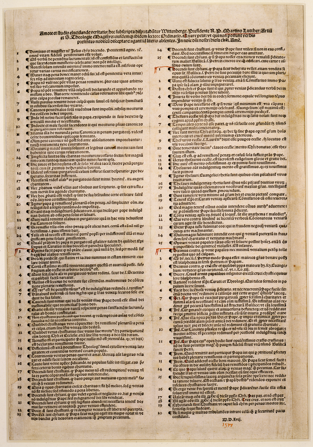 ninety-five theses in english