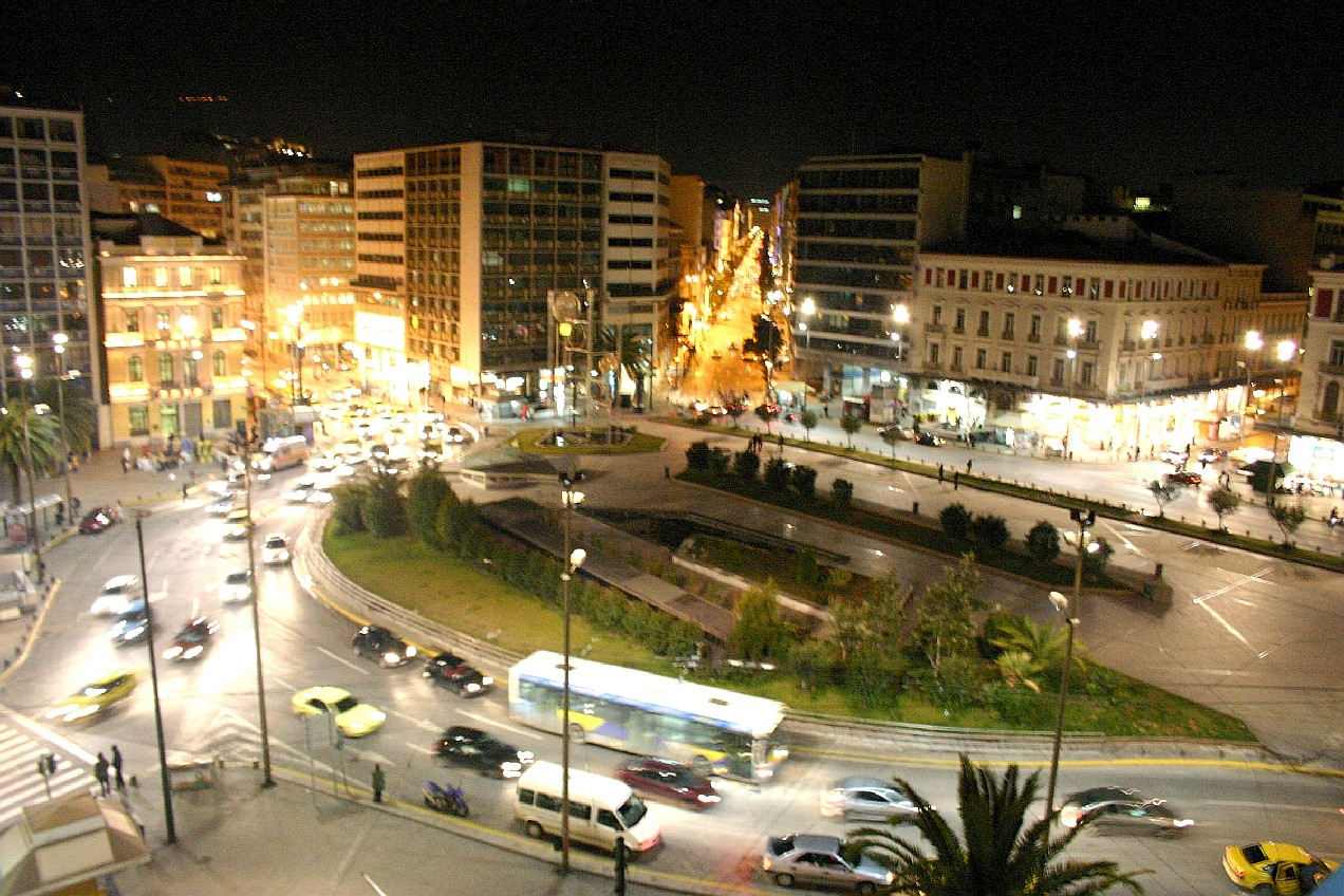 A view of Omonia square in Athens