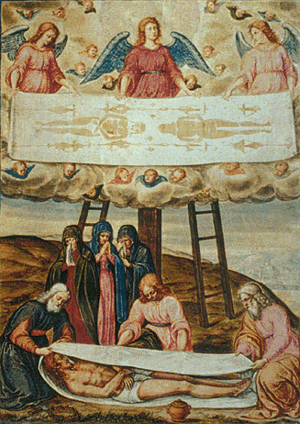Descent from the Cross with the Shroud of Turin