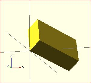 image of result of rotate() transformation in OpenSCAD