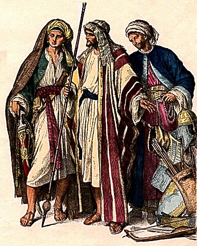 Costumes of Arab men, fourth to sixth century.