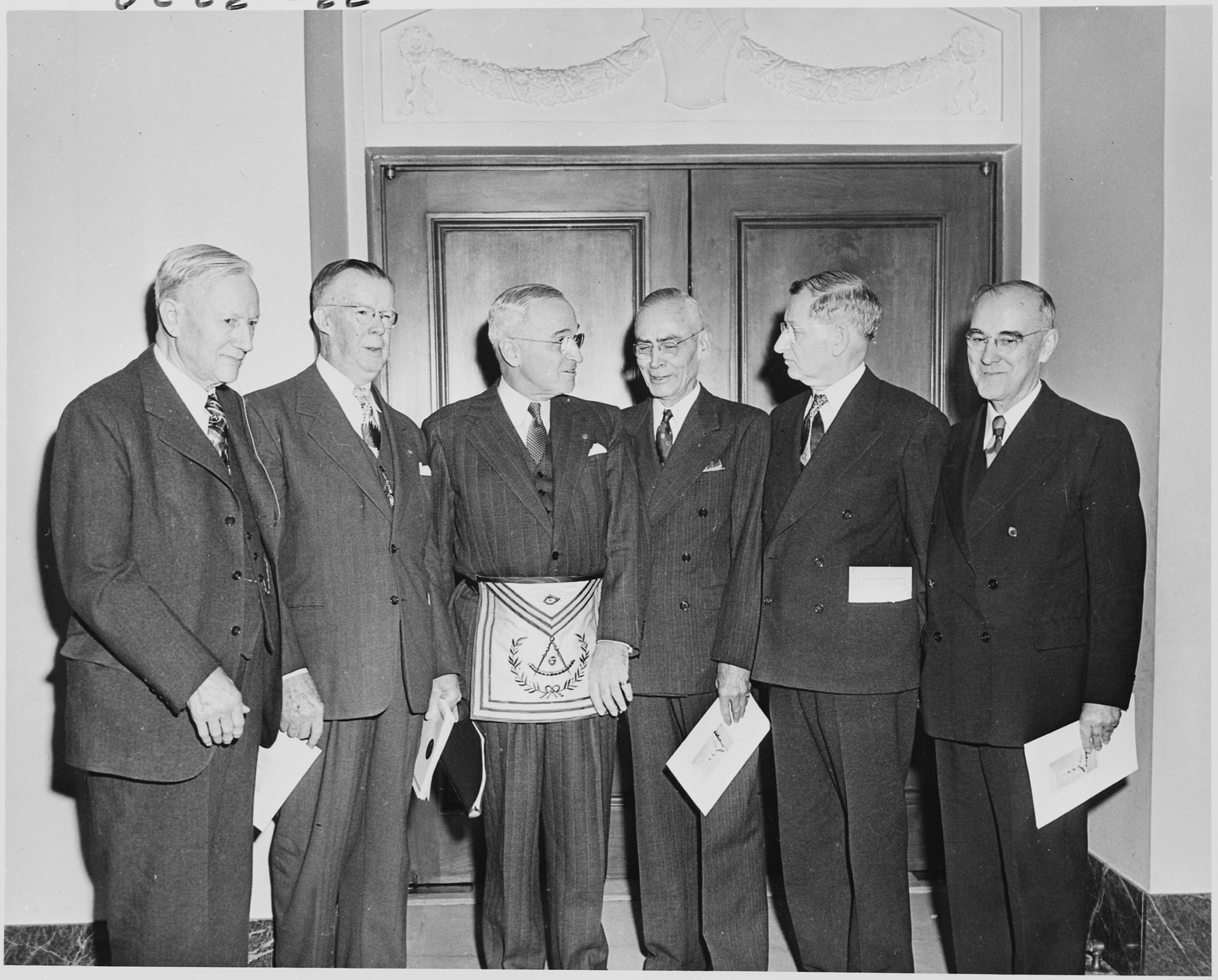 File Photograph Of President Truman Wearing His Masonic