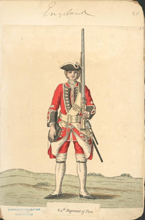 Piechur brytyjski z 1742 r. 22 regiment piechoty.jpg
