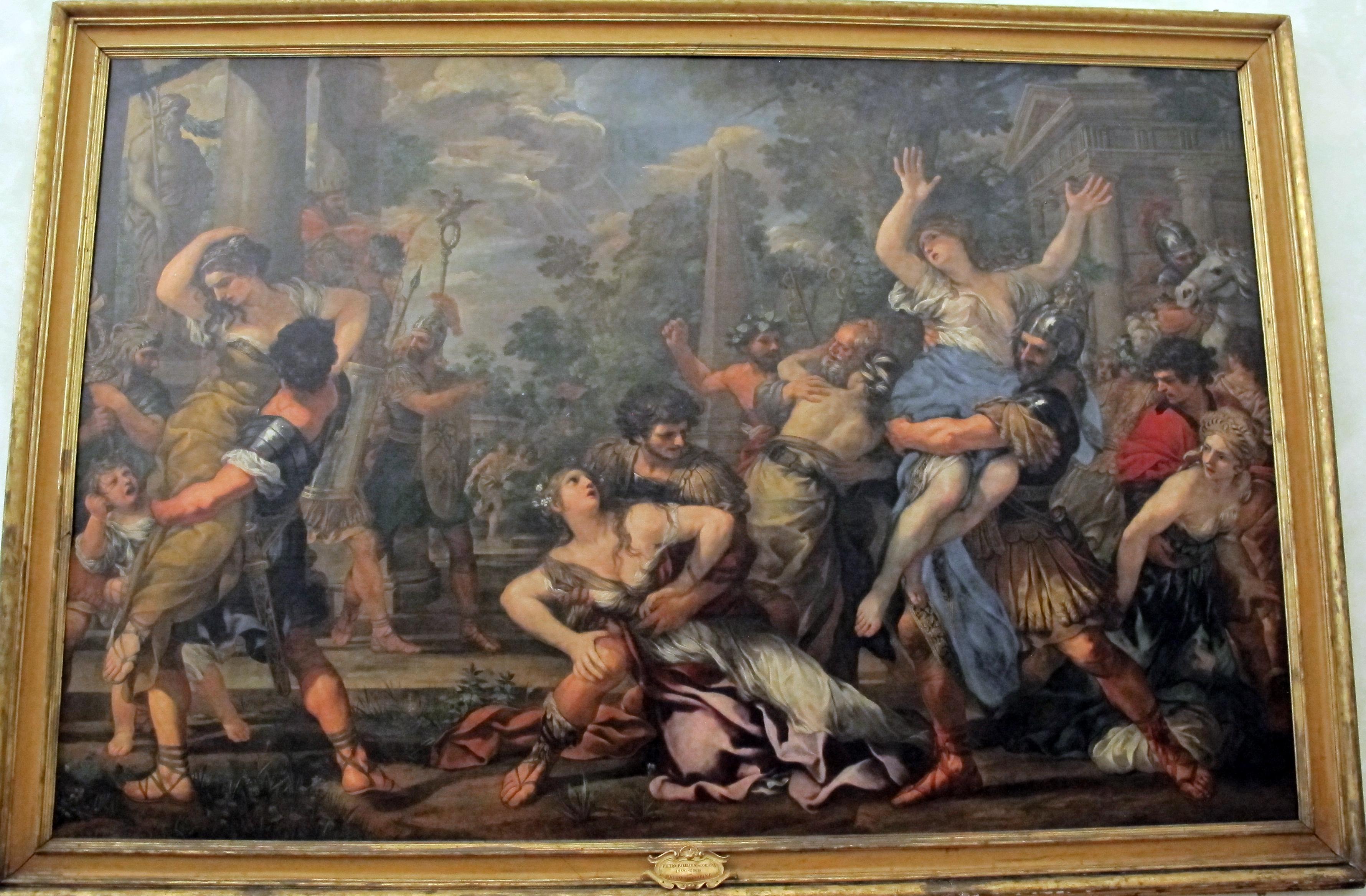 File:Pietro da cortona, ratto delle sabine, 1629 ca. 01 ...