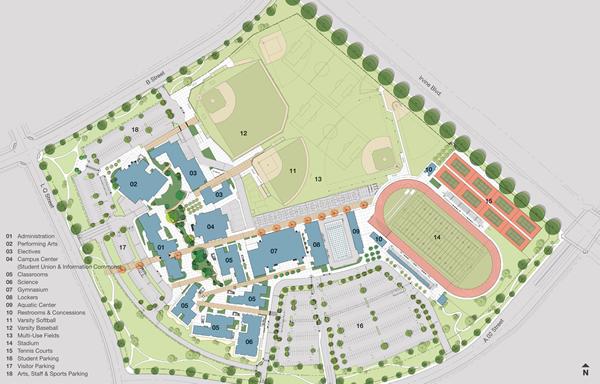 University High School Campus Map.Portola High School Wikipedia