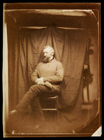 Portrait of a sailor taken on board the French aviso Ardent, 1857.