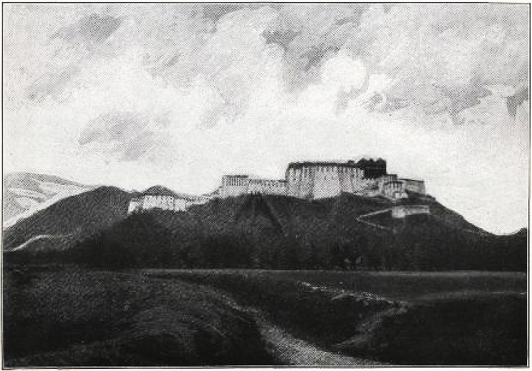 Potala Palace from the North-Northeast. side, Tsybikov-Smithsonian-1905-Plate-5.jpg