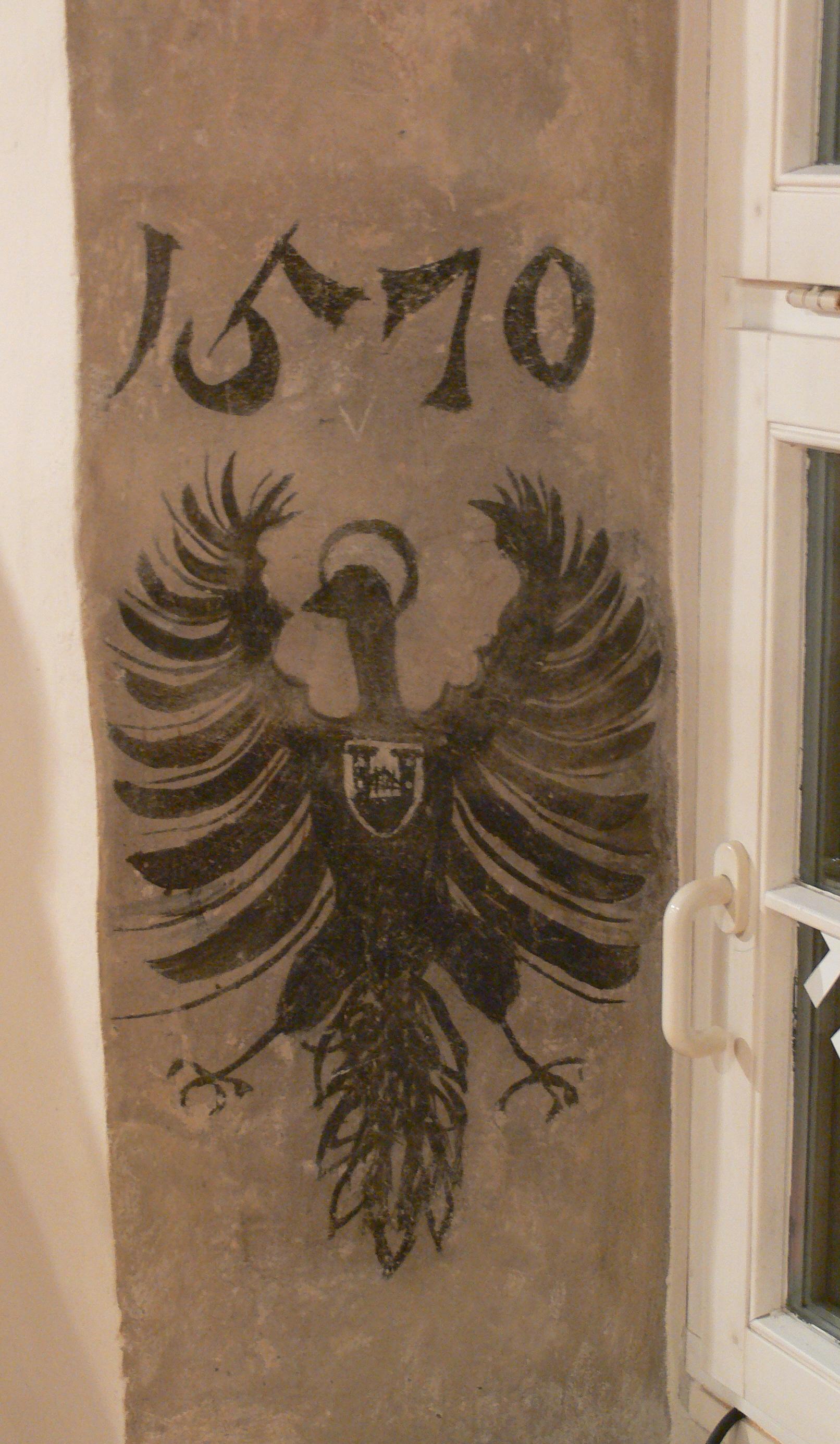 File:Ravensburg Seelhaus Fensterlaibung Reichsadler 1570.jpg