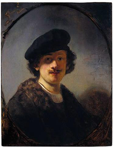 Rembrandt, Self-portrait with Shaded Eyes, 1634