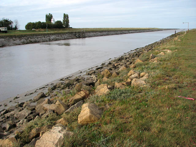 River Nene approaching the Wash - geograph.org.uk - 1528334