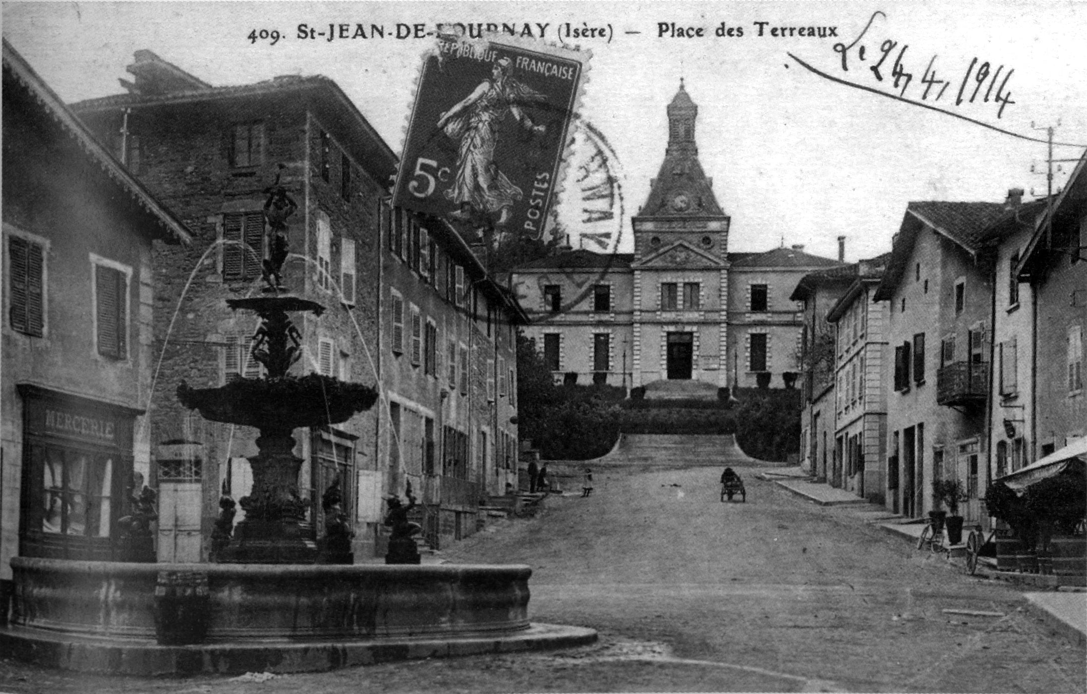 file saint jean de bournay place de terreaux 1914 p205 de l 39 is re les 533. Black Bedroom Furniture Sets. Home Design Ideas