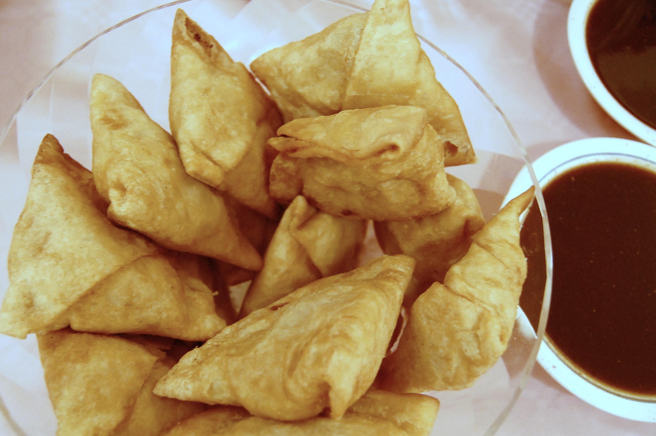 how to make chutney samosa