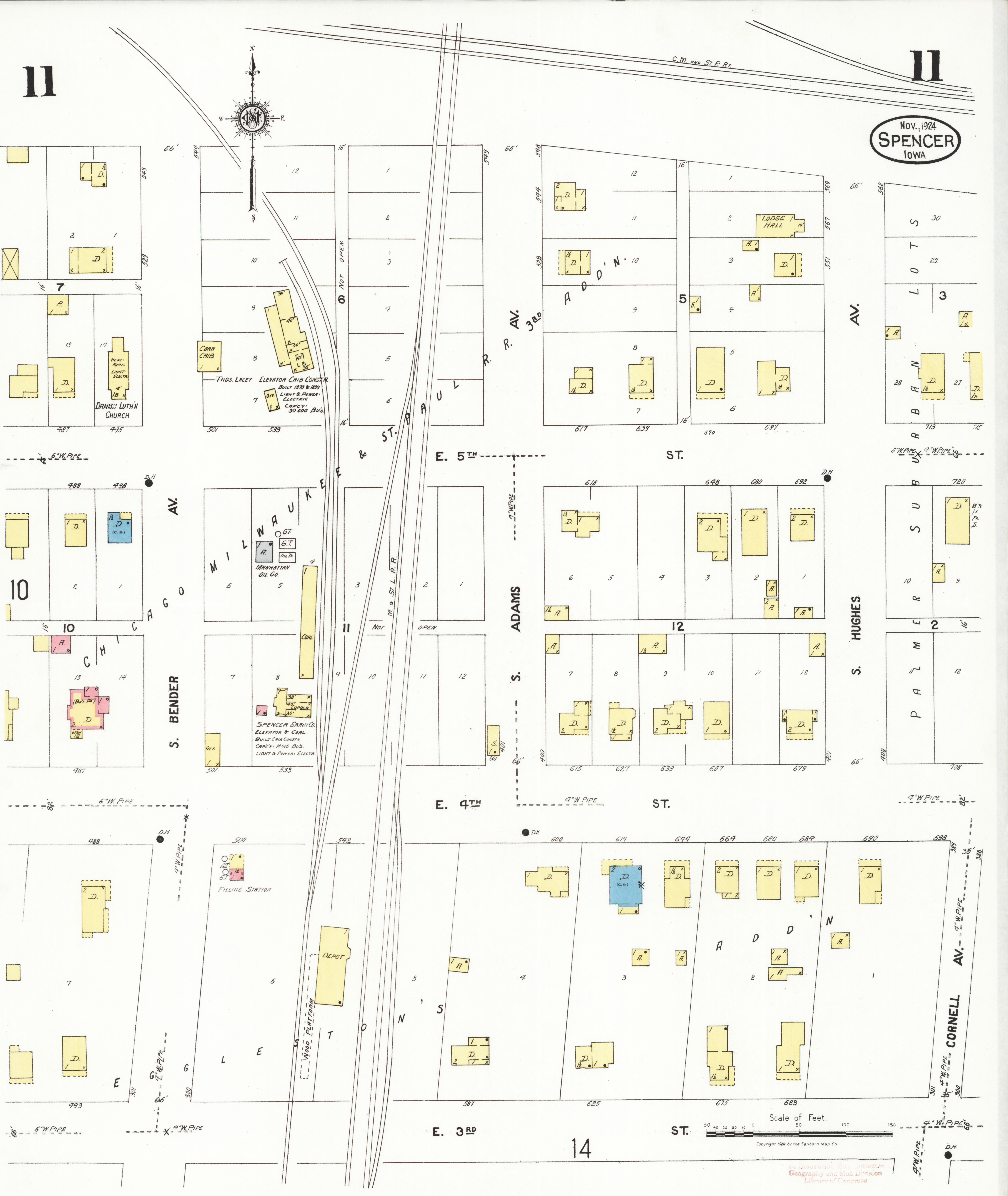 File Sanborn Fire Insurance Map From Spencer Clay County Iowa Loc