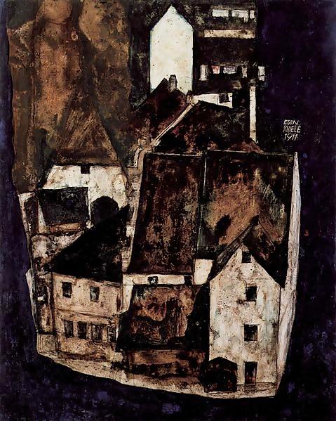 Egon Schiele - Tote Stadt III, 1911 - Quelle: WikiCommons