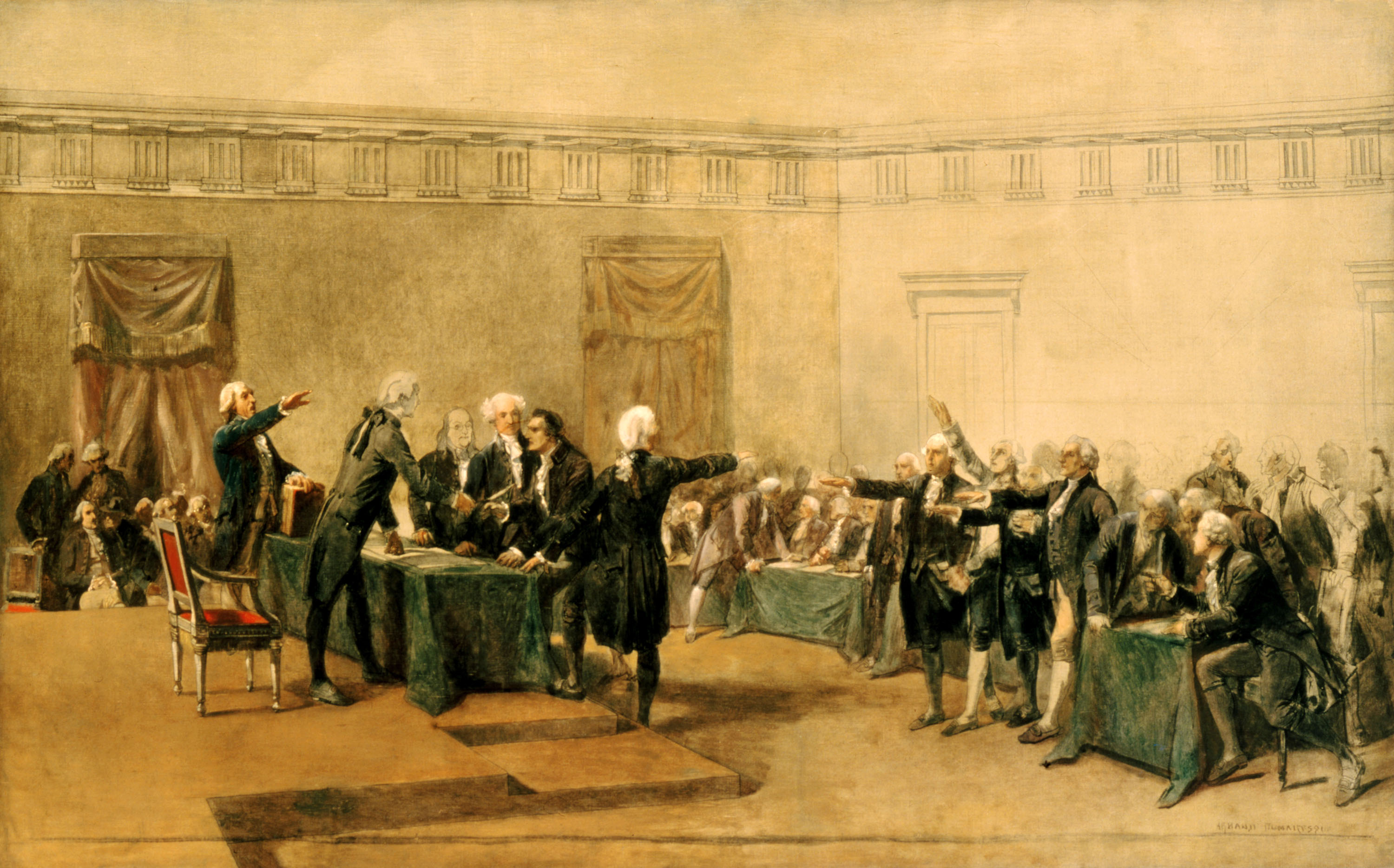 Signing of Declaration of Independence, Armand-Dumaresq, c1873