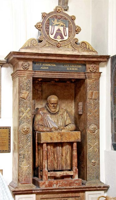 Monument with effigy of John Stow, Church of [[St Andrew Undershaft