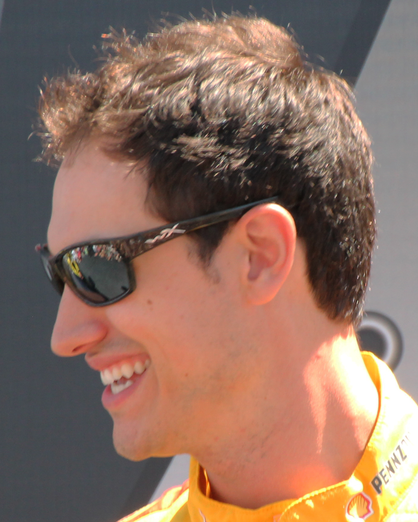 The 28-year old son of father Tom Logano and mother(?) Joey Logano in 2018 photo. Joey Logano earned a  million dollar salary - leaving the net worth at 18 million in 2018