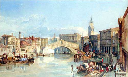 File:The Rialto Bridge, Venice by William James Müller.png