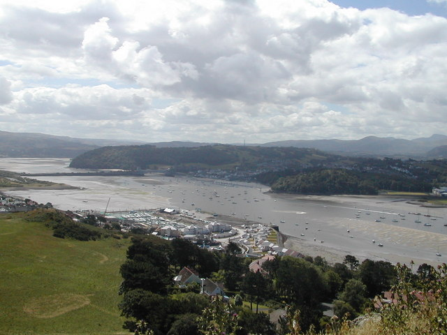The River Conwy from Deganwy Castle hill - geograph.org.uk - 350525